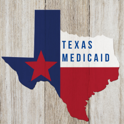 State of Texas with words Texas Medicaid